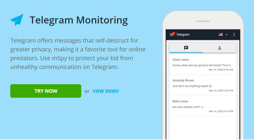 Telegram monitoring for android 12